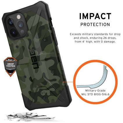 UAG Pathfinder Cover, iPhone 12 Pro Max, Forest Camo