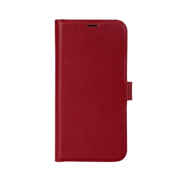 Essentials iPhone 12/12 Pro, Leather Wallet, Detachable, Red