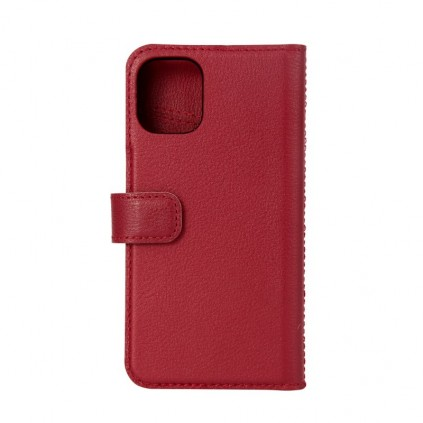 Essentials iPhone 12 Mini, Leather Wallet, Detachable, Red