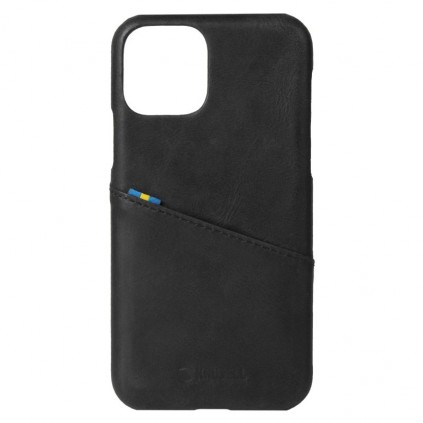 Krusell iPhone 12 Pro Max CardCover Leather, Black